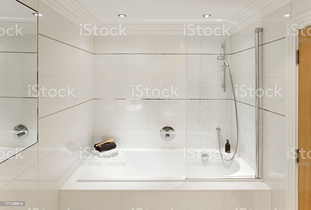 bath and shower stock photo