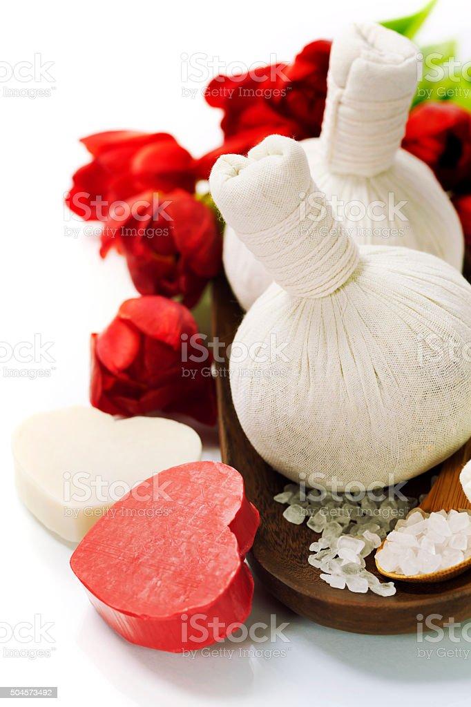 Bath and spa Valentine theme stock photo