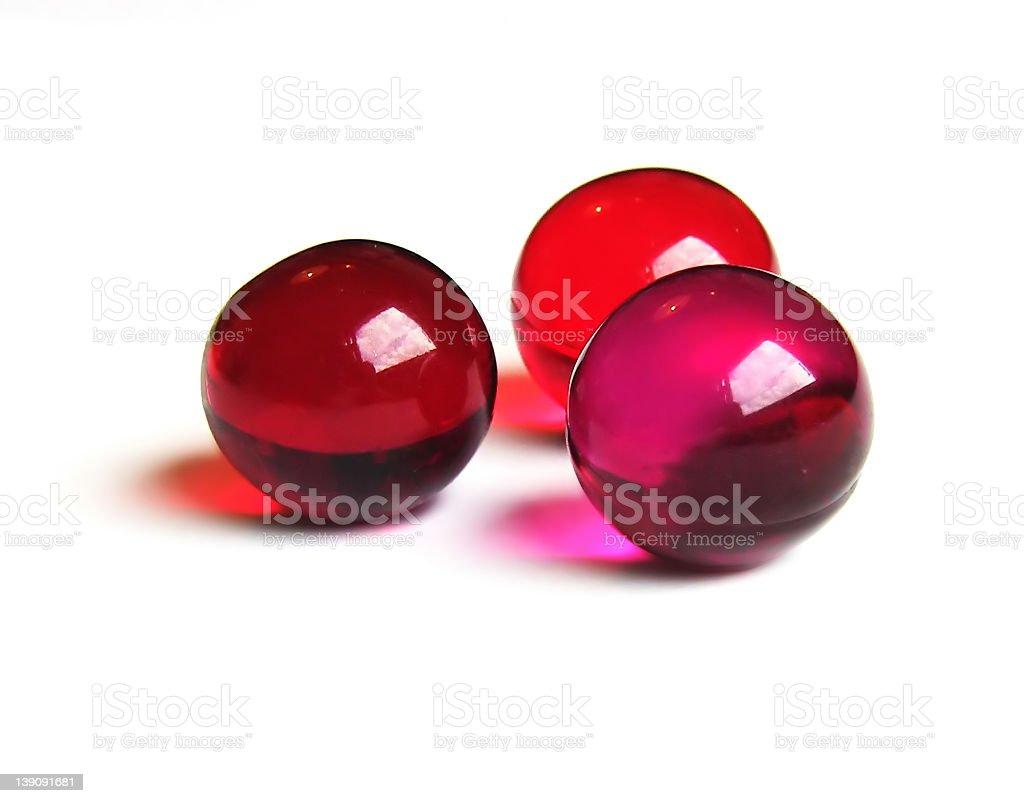 Bath balls (red) royalty-free stock photo