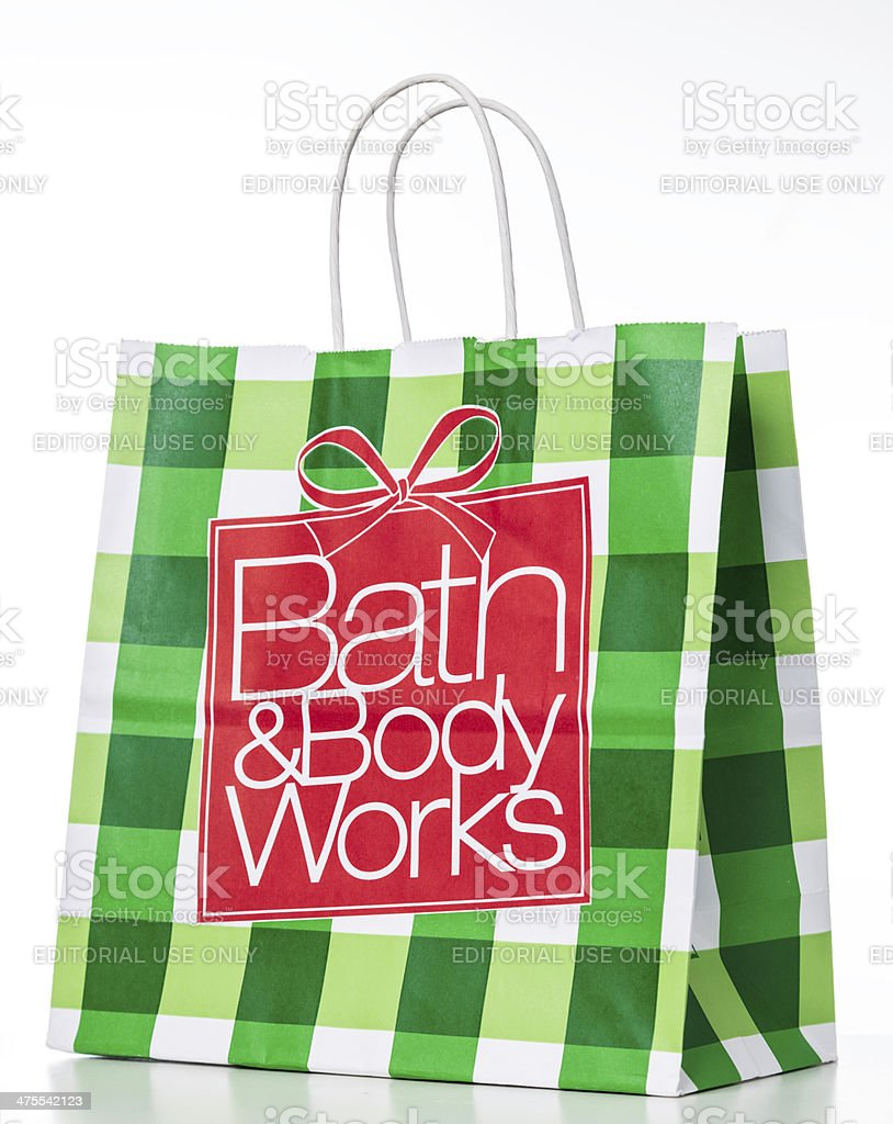 Bath & Body Works paper bag stock photo