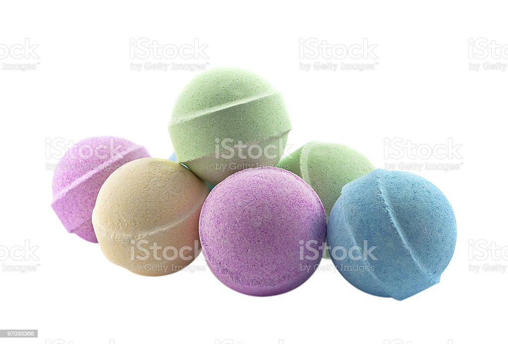 Bath bombs stock photo