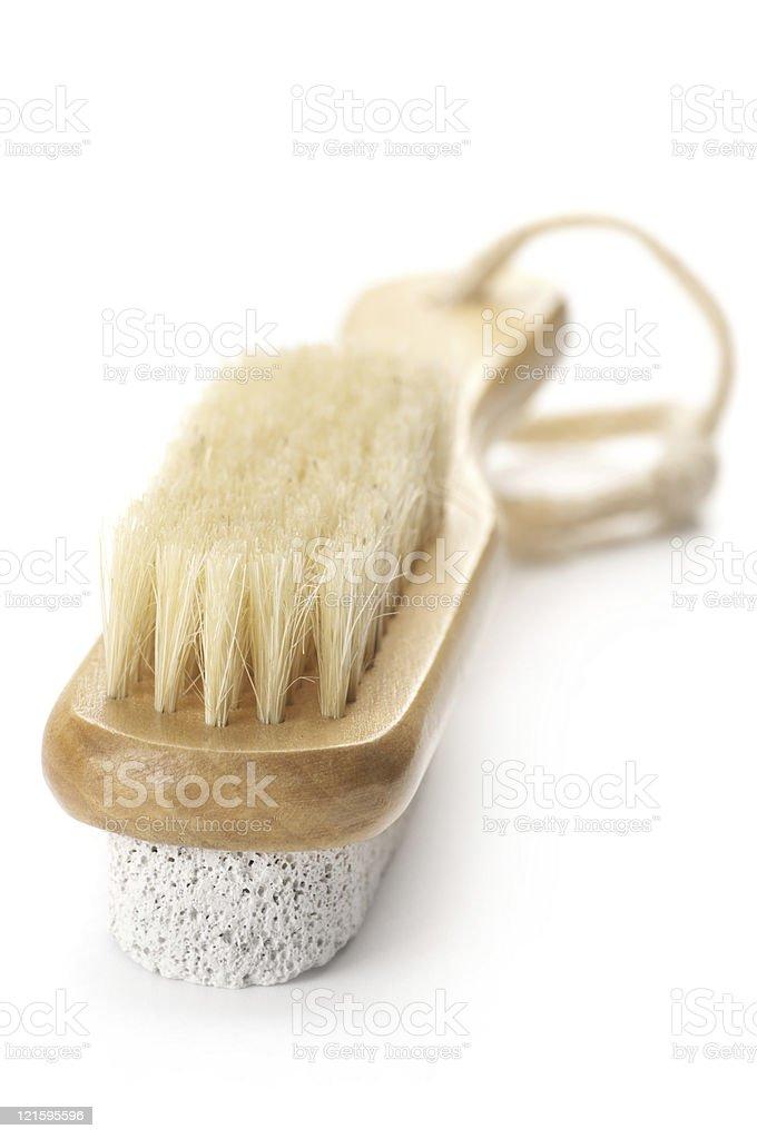 Bath brush stock photo
