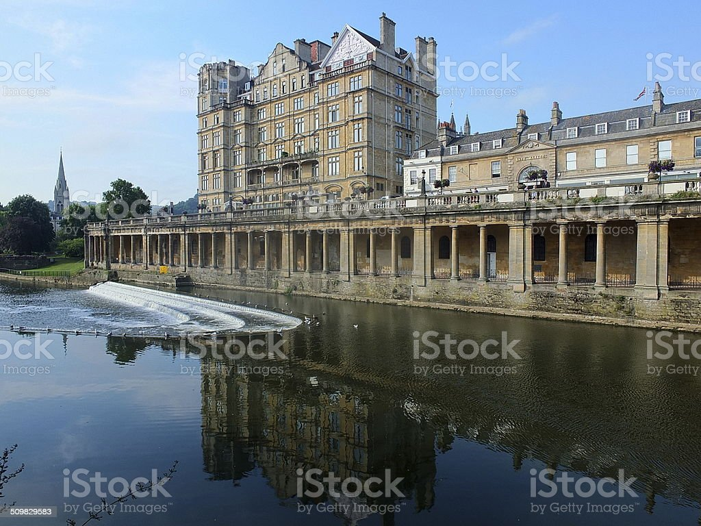 Bath By The River Avon stock photo