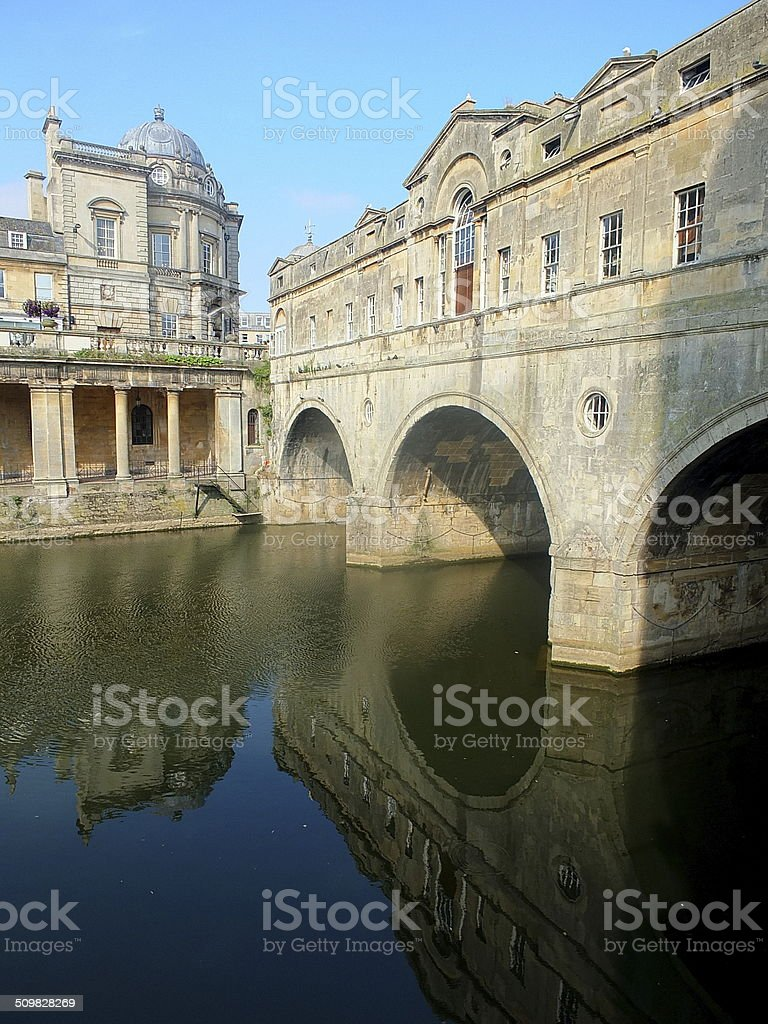 Bath By The River stock photo