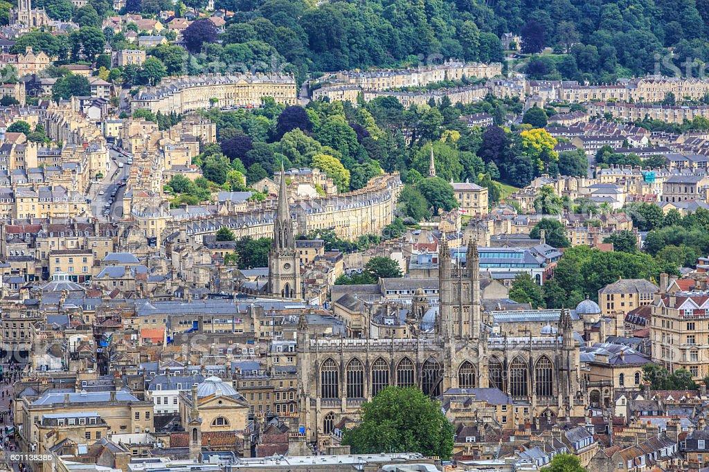 Bath City Panorama View stock photo