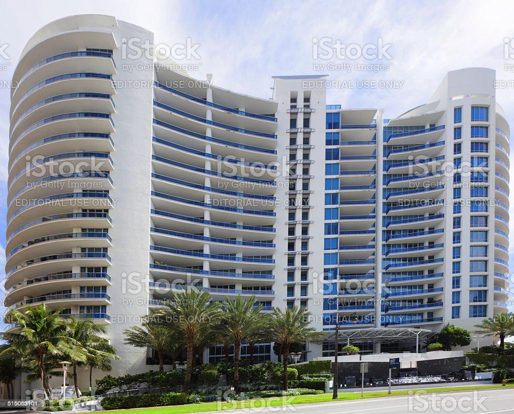 Bath Club Condominium Miami Beach stock photo