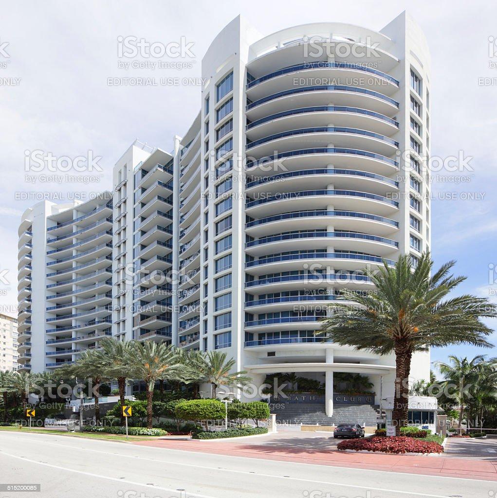 Bath Club Miami Beach Condominium stock photo