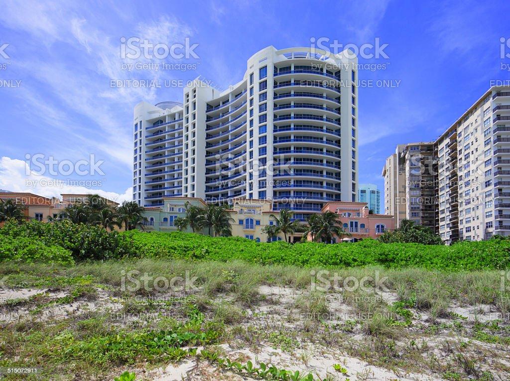 Bath Club Miami Beach FL stock photo