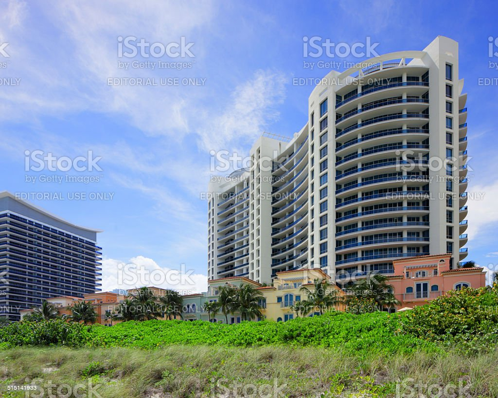 Bath Club resort and condominium stock photo