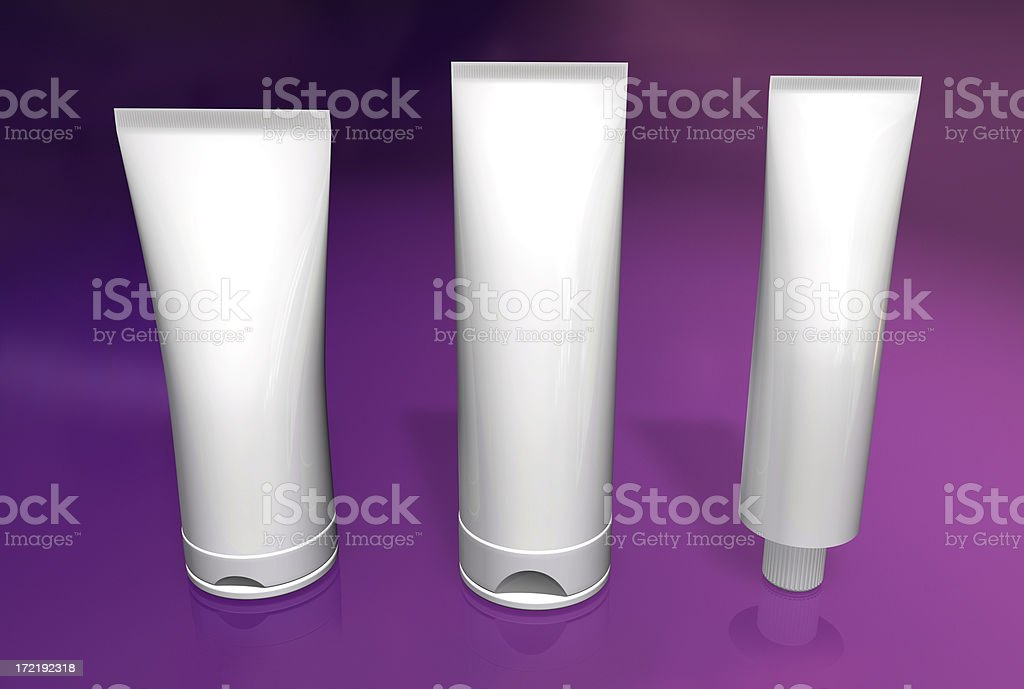 Bath containers (with path) royalty-free stock photo