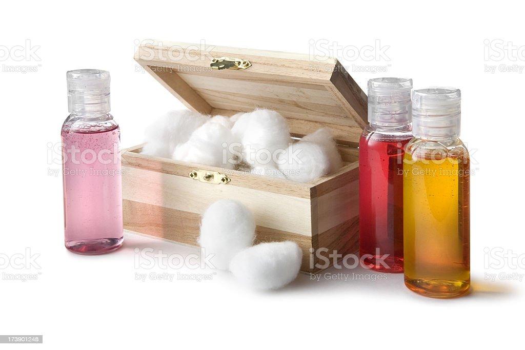 Bath: Cotton Balls and Soap royalty-free stock photo