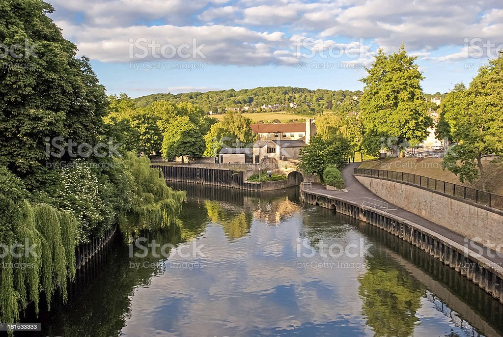 Bath, England, Avon river stock photo