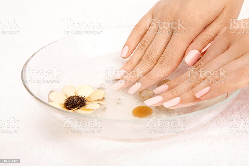 Bath for hands stock photo