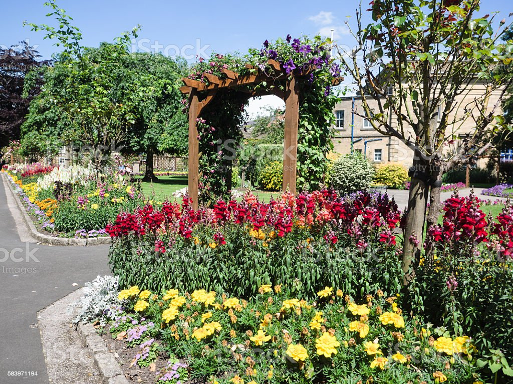 Bath Gardens stock photo