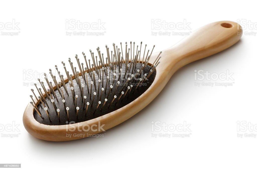 Bath: Hairbrush stock photo