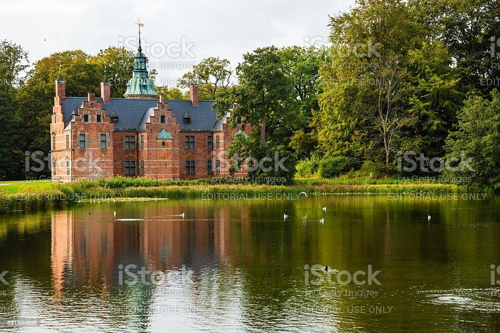 Bath House on Frederiksborg Slot Park stock photo