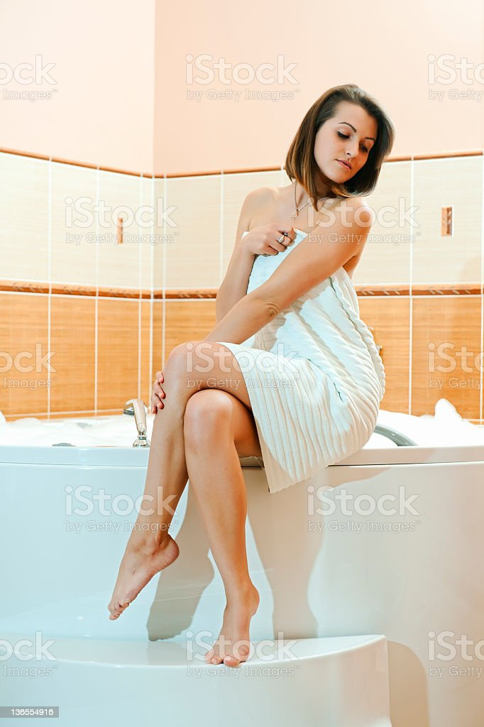 bath in the bathroom royalty-free stock photo