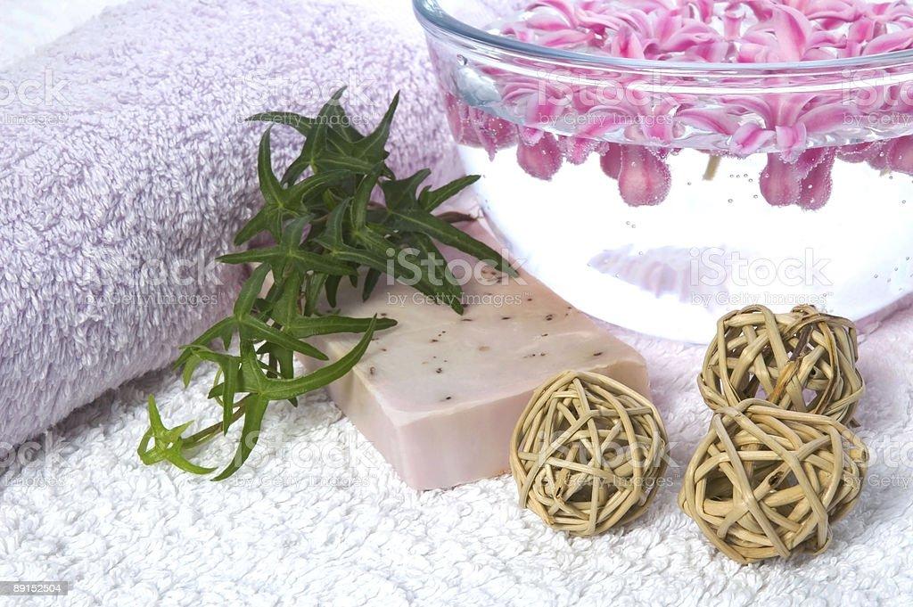 bath items. aromatherapy royalty-free stock photo