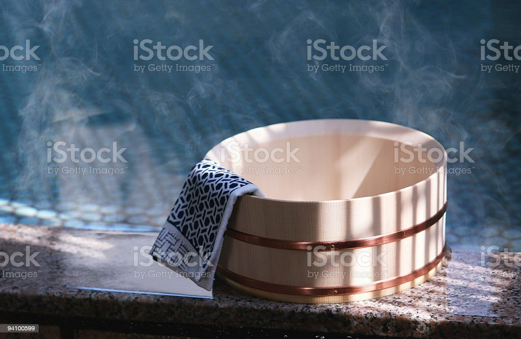 Bath of Japanese style stock photo