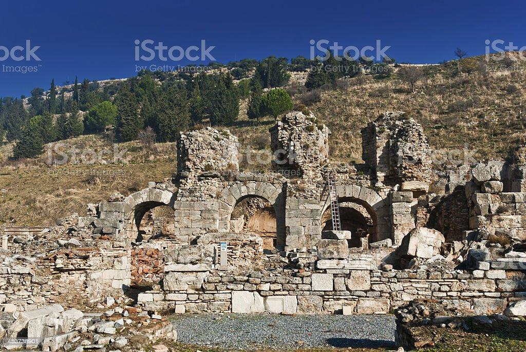 Bath of Varius, Ephesus, Turkey royalty-free stock photo