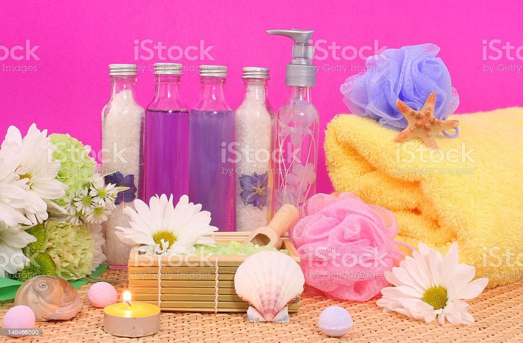Bath Products royalty-free stock photo