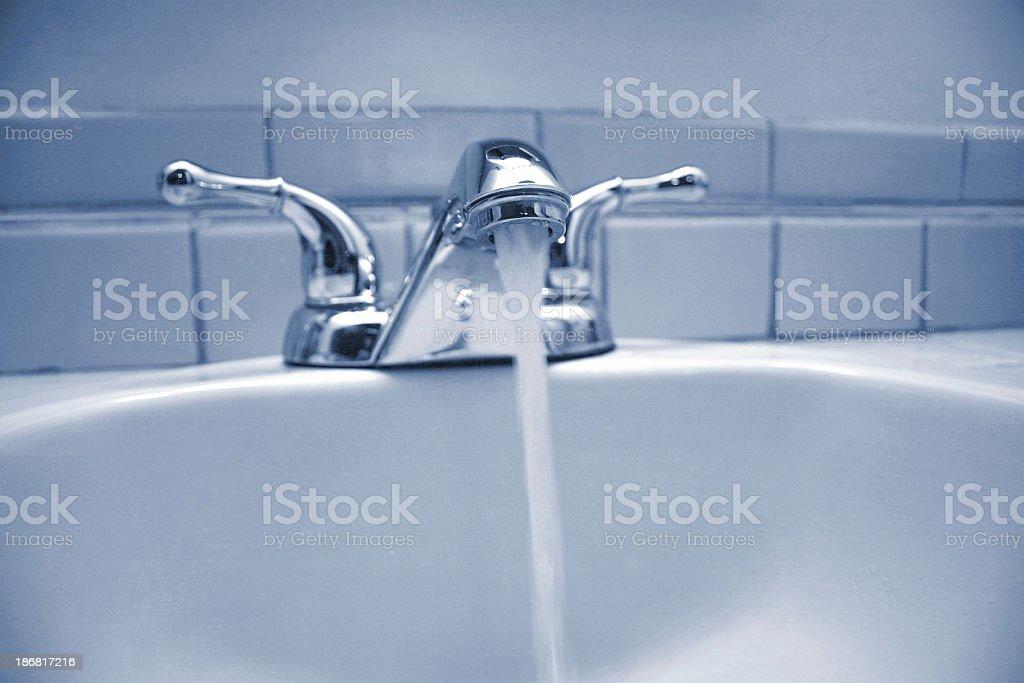 bath room sink stock photo