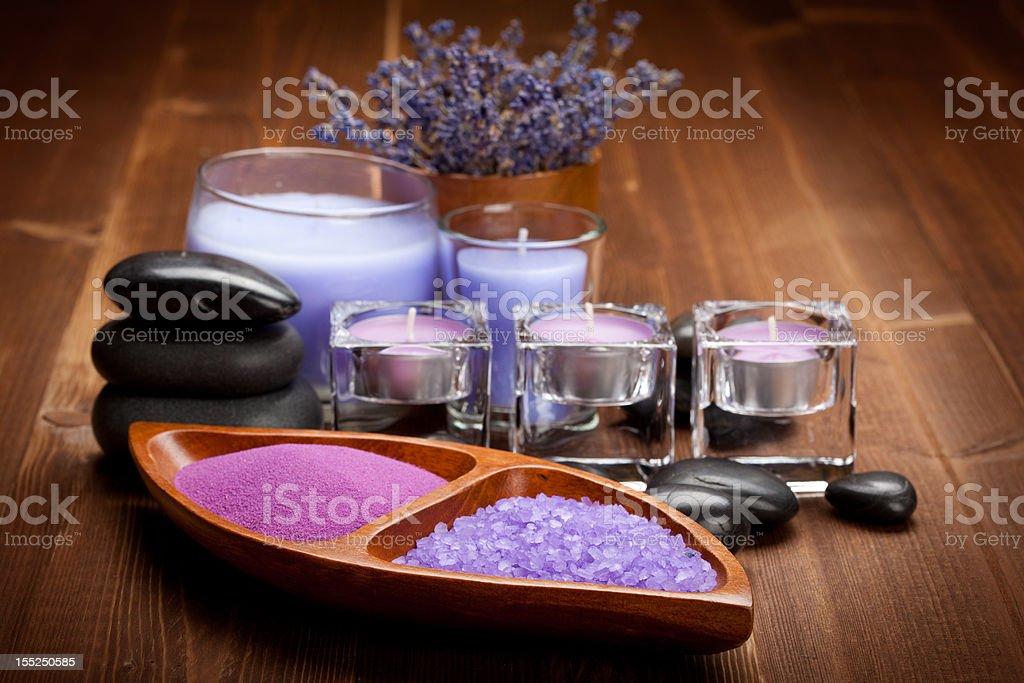 Bath salt for aromatherapy royalty-free stock photo