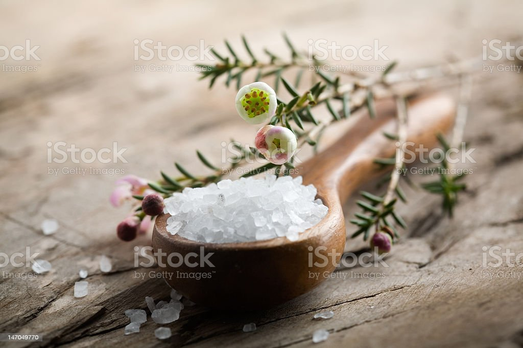 Bath salt stock photo