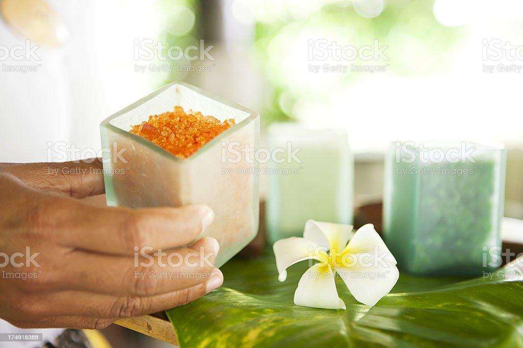 Bath salt royalty-free stock photo