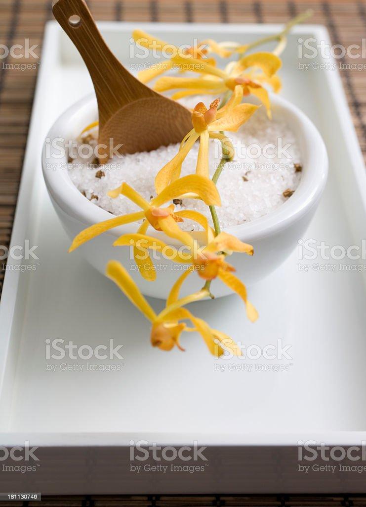 Bath salts at the spa royalty-free stock photo