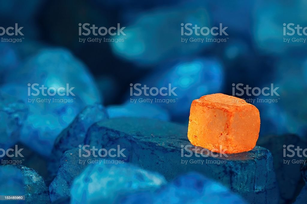 Bath salts macro royalty-free stock photo