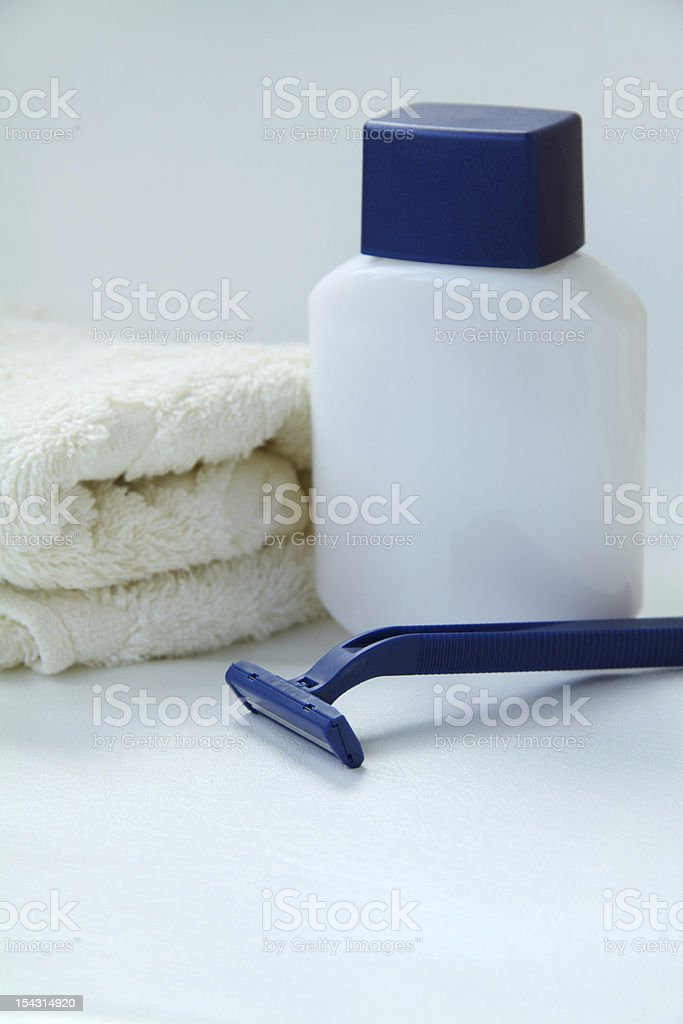 Bath: Shaving Equipment royalty-free stock photo