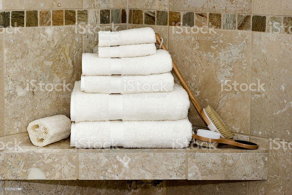 Bath/ shower essentials royalty-free stock photo
