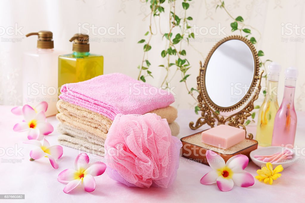 Bath time of citron stock photo