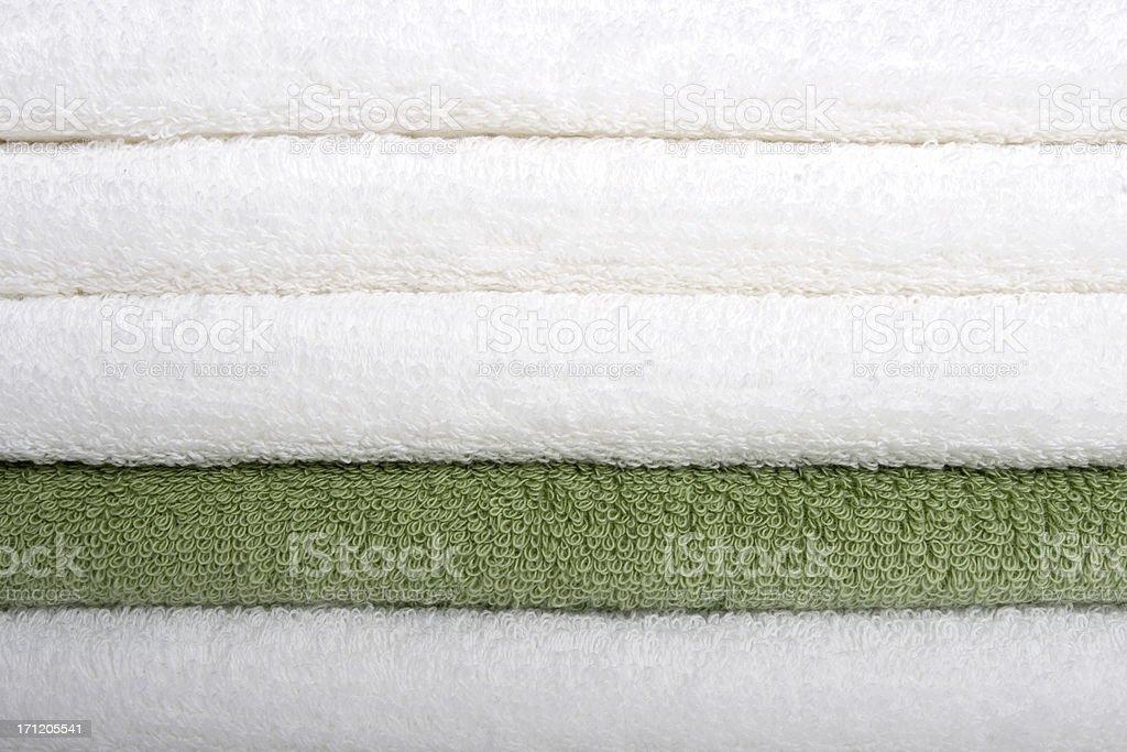 Bath Towel - Green royalty-free stock photo
