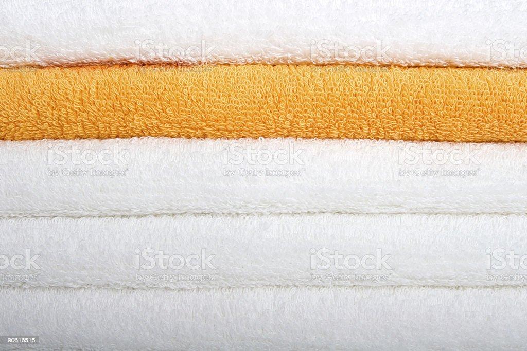 Bath Towel - Orange royalty-free stock photo