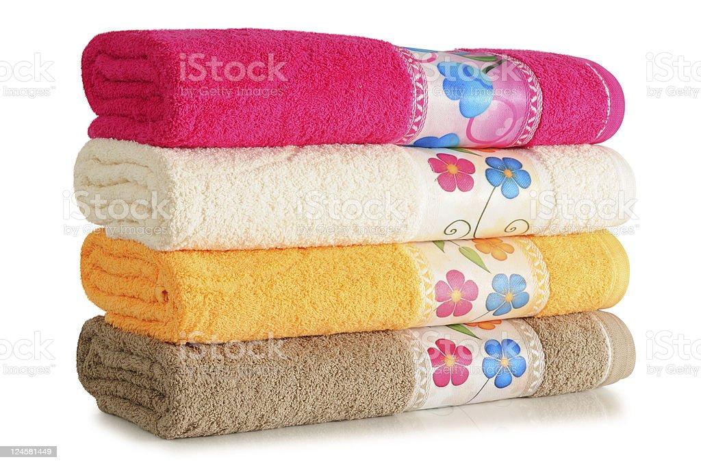Bath towel. stock photo