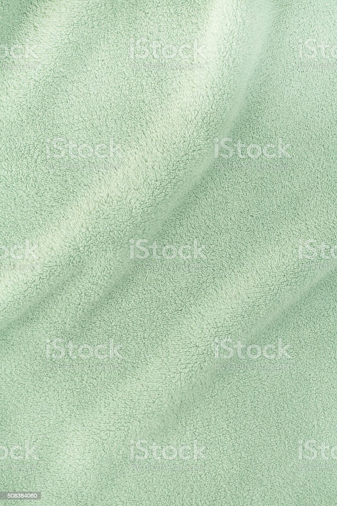 Bath towel texture with waves stock photo
