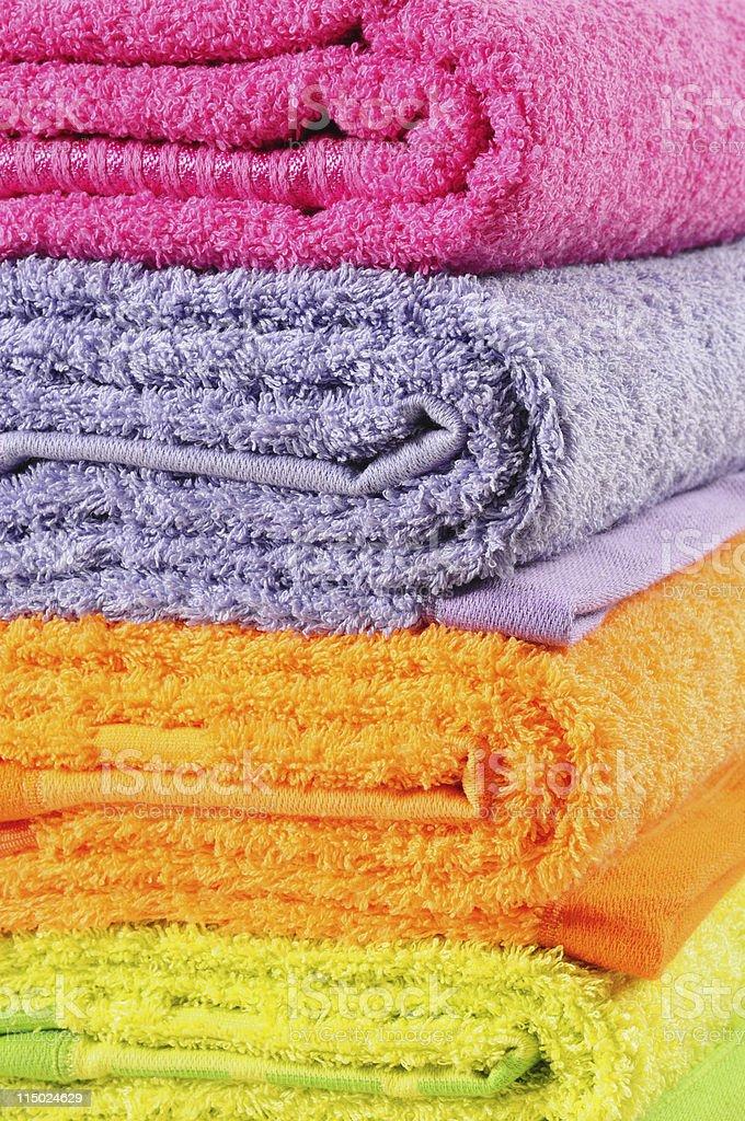 Bath towels. stock photo