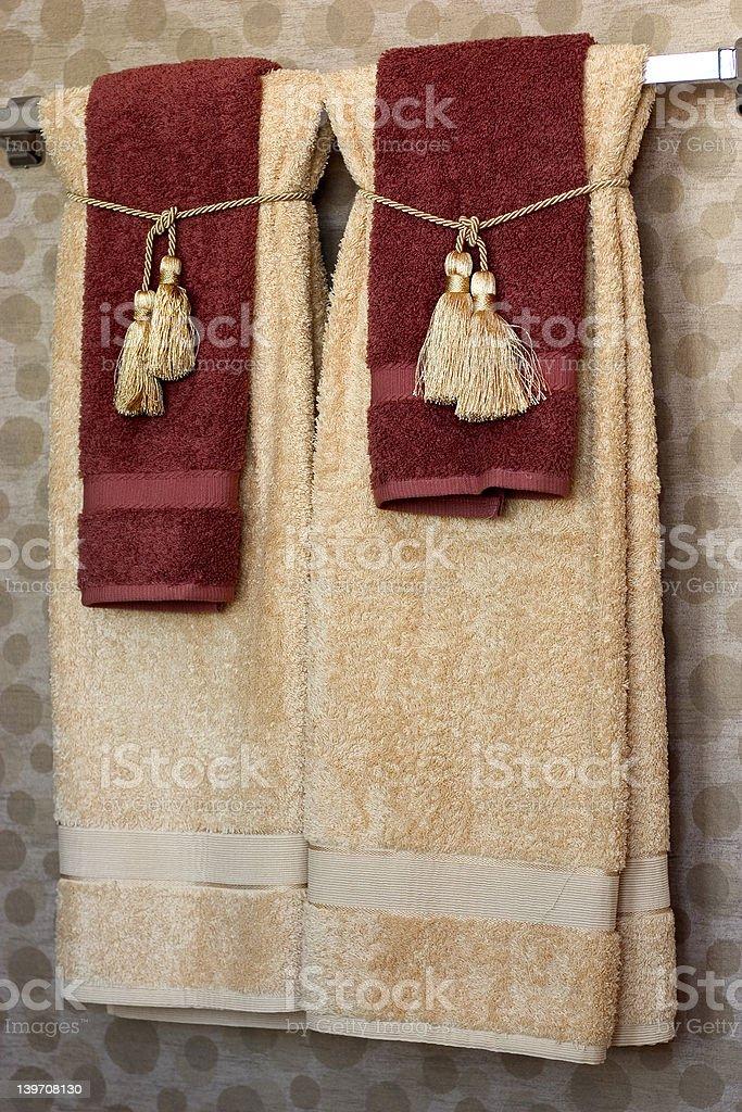bath towels royalty-free stock photo