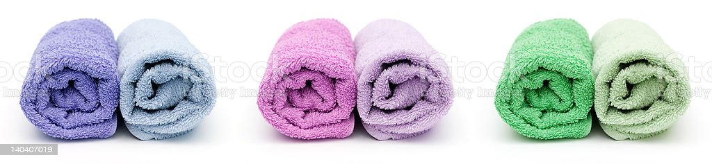 Bath towels royalty-free stock photo