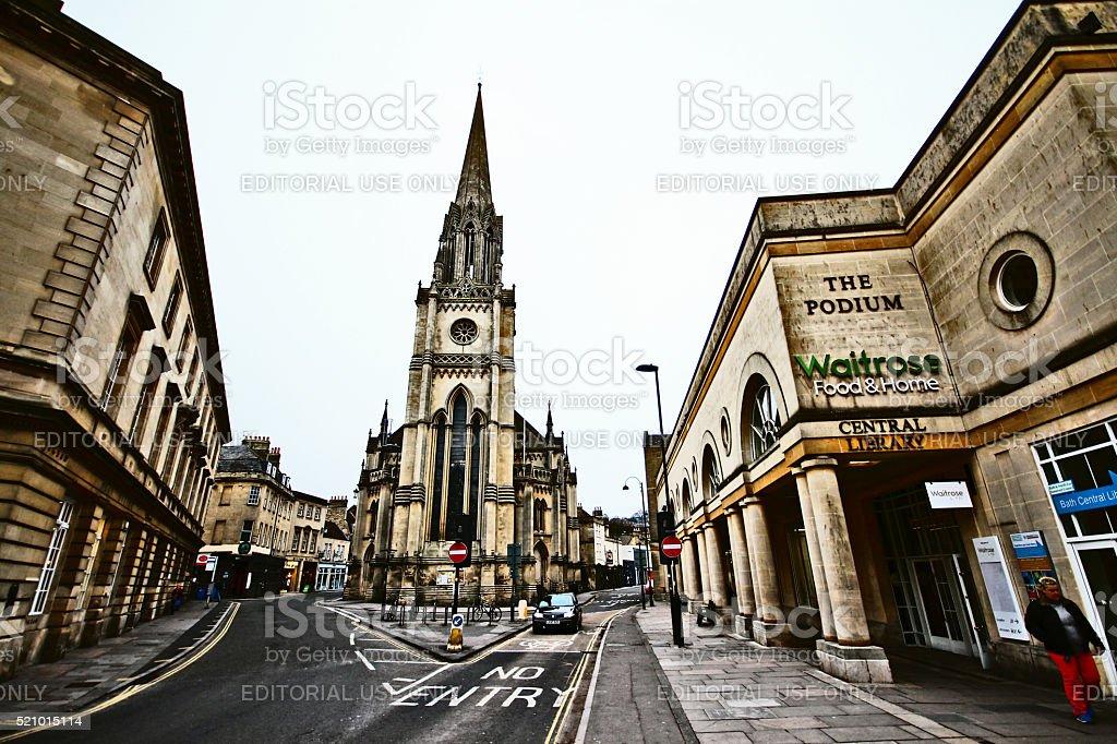 Bath, UK - March 25, 2013 - St Michael's church in Bath stock photo