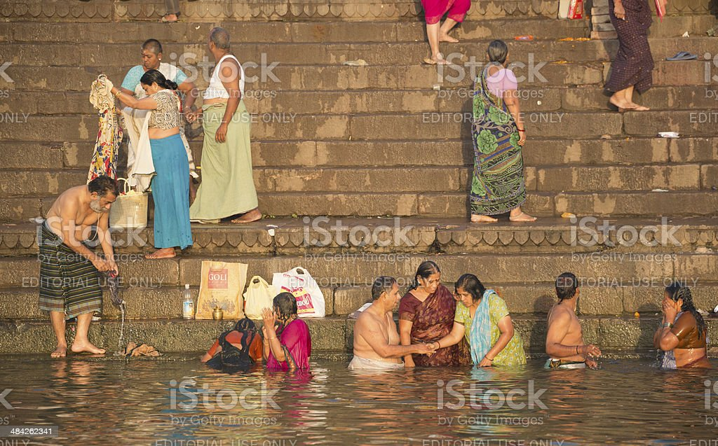 Bathe in the Sacred Waters stock photo