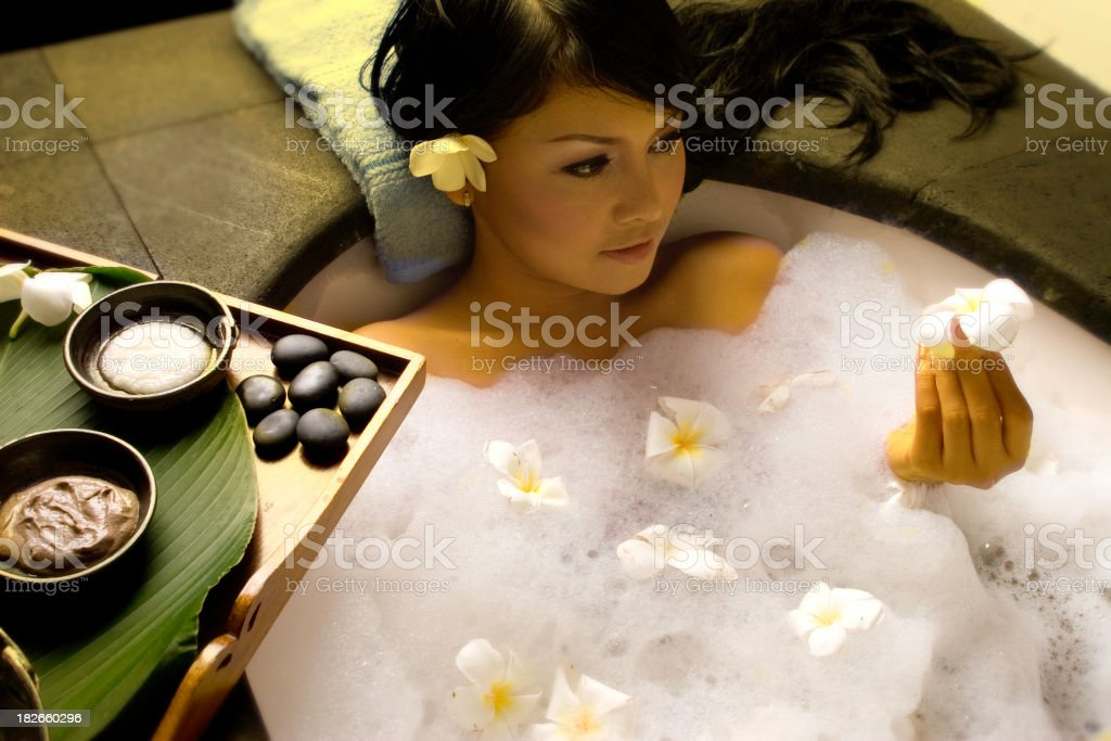 Bathed in Flowers royalty-free stock photo