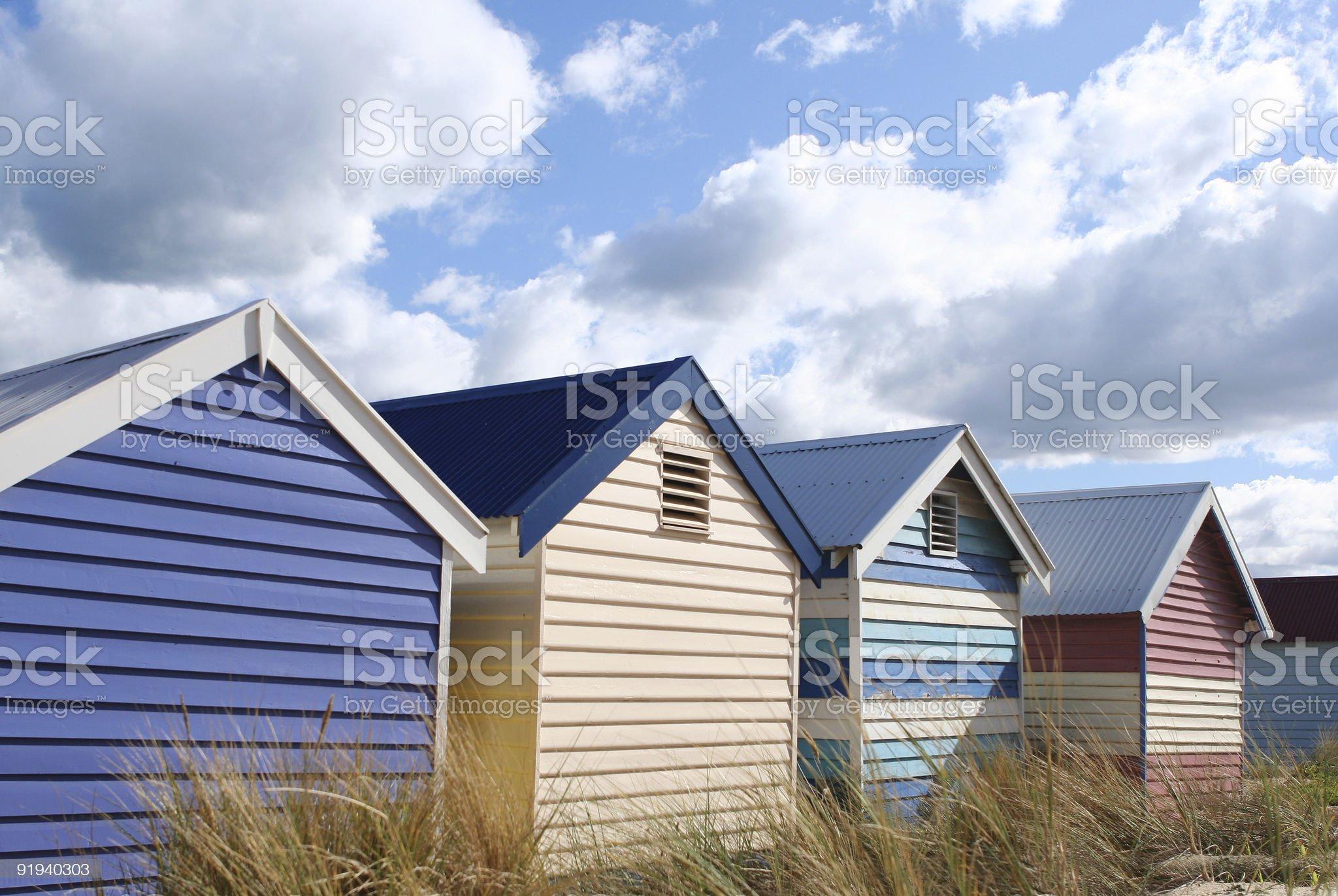 Bathing Boxes, Brighton Beach royalty-free stock photo