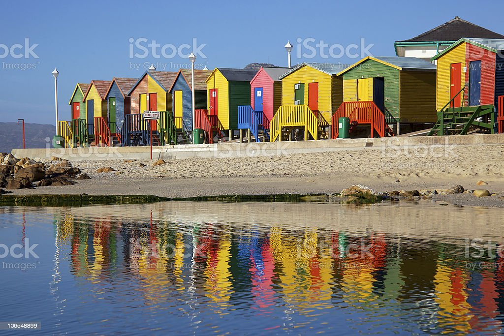 Bathing Boxes royalty-free stock photo