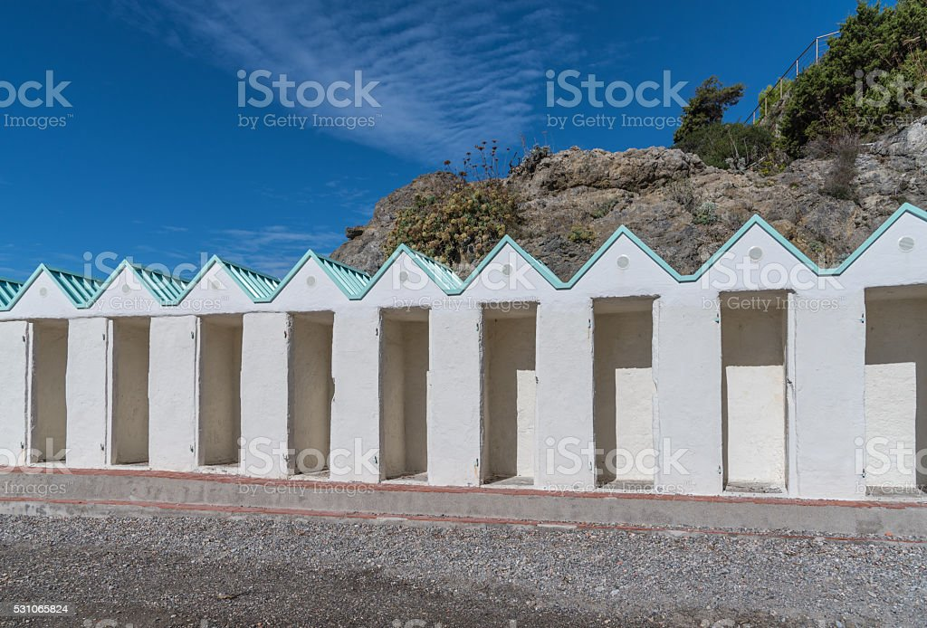 stabilimento balneare stock photo