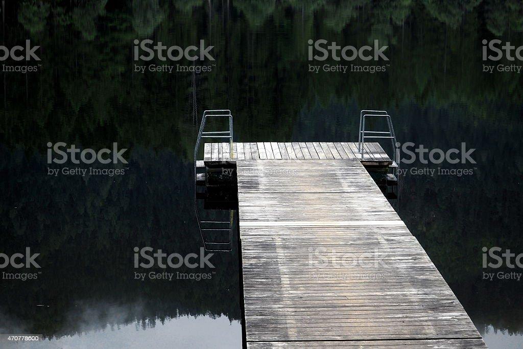 Bathing jetty stock photo