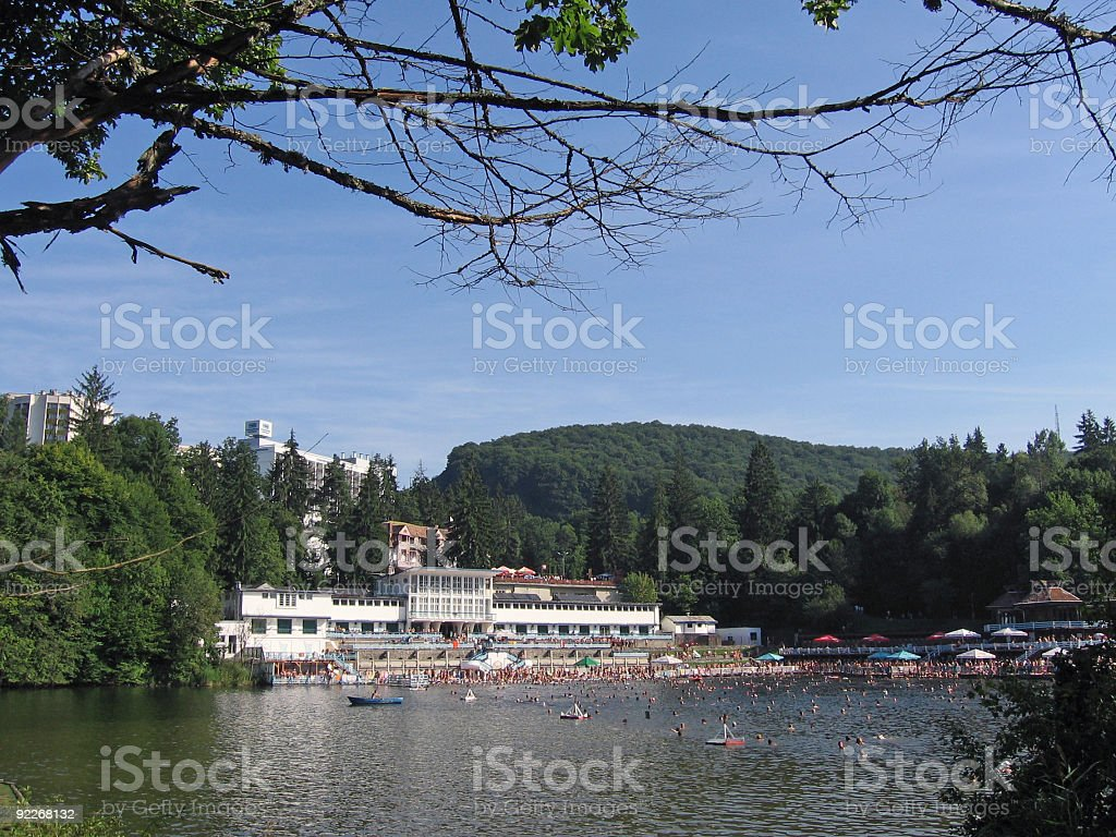Bathing lake royalty-free stock photo