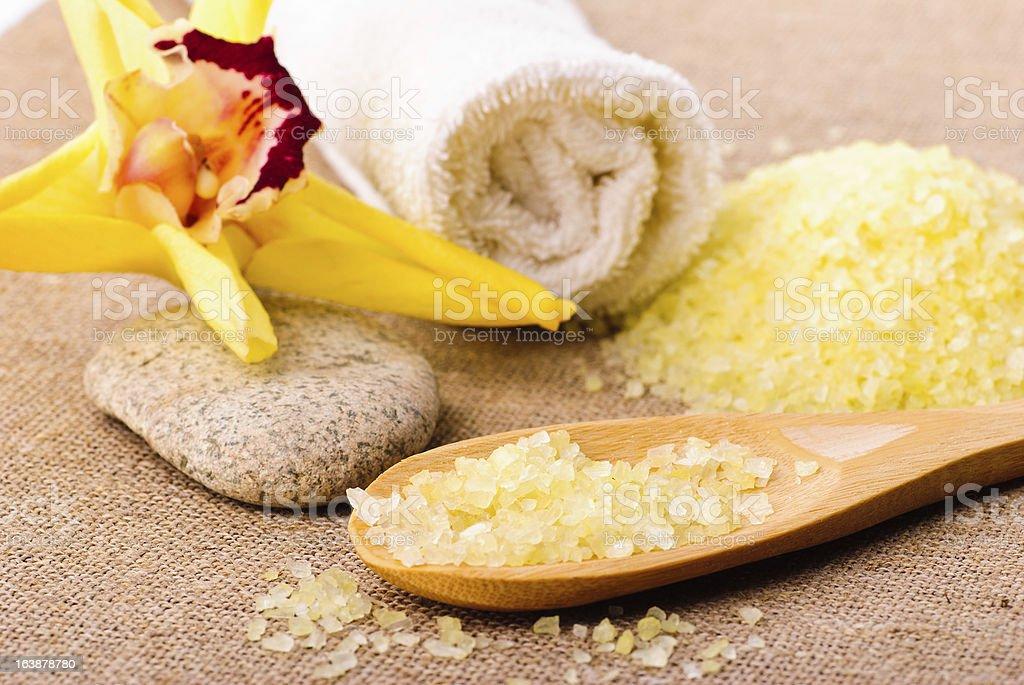 bathing salt, spa concept royalty-free stock photo